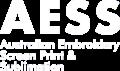 New AESS logo white