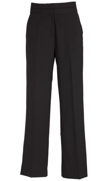 14016 Black Mid Rise Piped Band Pant