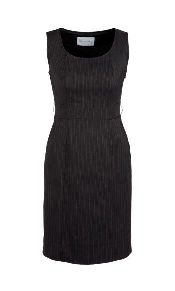 30211 Black Sleeveless Side Zip Dress