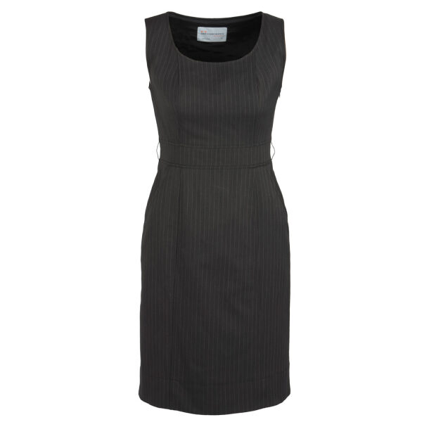 30211 Charcoal Sleeveless Side Zip Dress