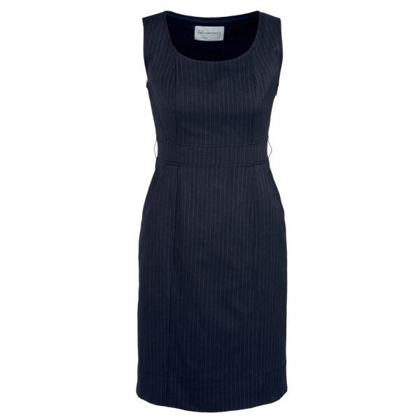 30211 Navy Sleeveless Side Zip Dress