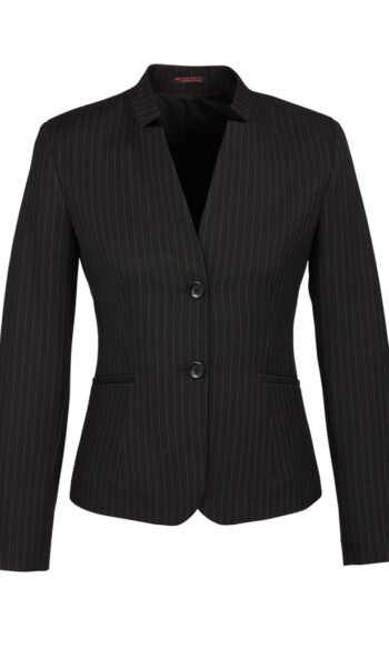 60213 Black PinStripe Short Jacket Reverse