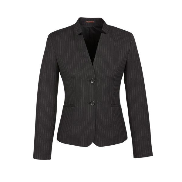 60213 Charcoal PinStripe Short Jacket Reverse
