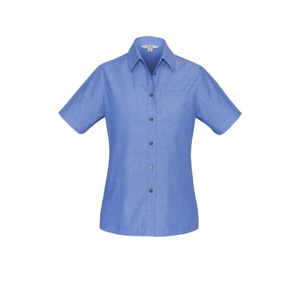 LB6200 Chambray Ladies SS front 1