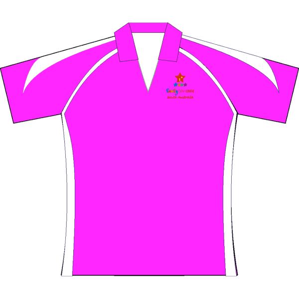 Premier polo Pink White