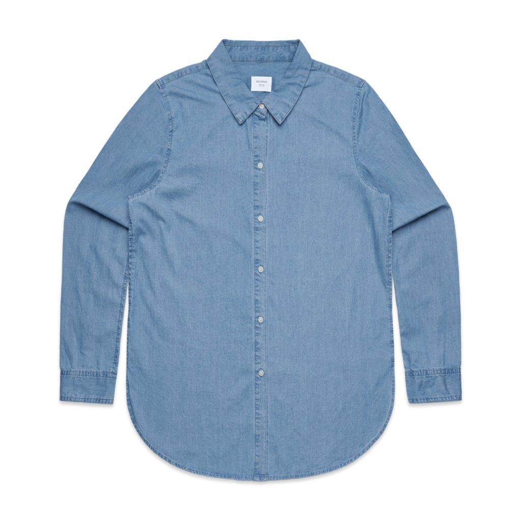 Womens Blue Denim Shirt