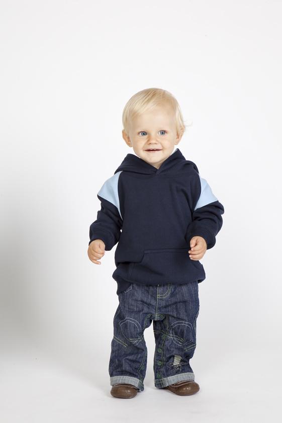 Kids Shoulder Contrast Panel Hoodies