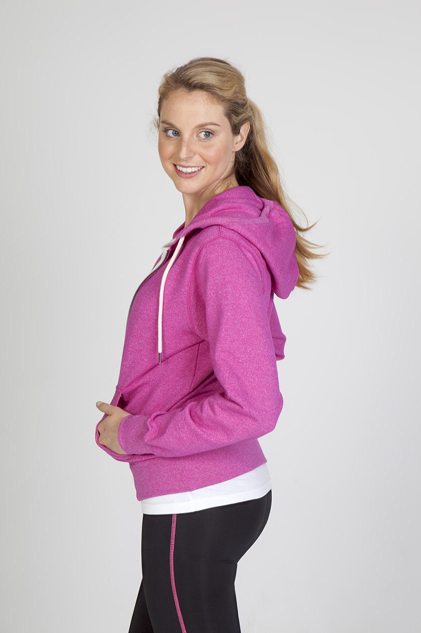 Ladies/Junior Greatness Heather Zip Hoodie