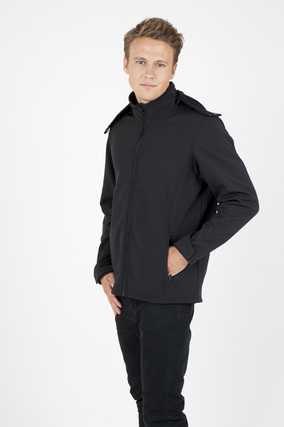 Men's Soft Shell Hooded Jacket - Tempest Range