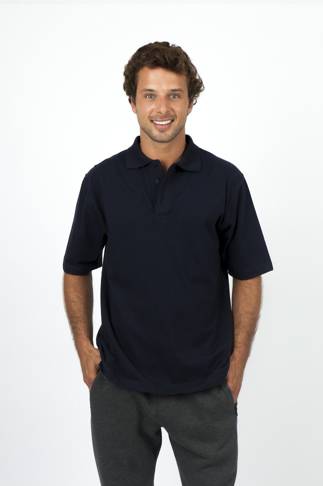 Mens 100% Cotton Jersey Polo