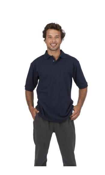Mens 100% Cotton Pique Knit Polo