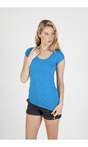 Ladies Marl Scoop Neck T-shirt