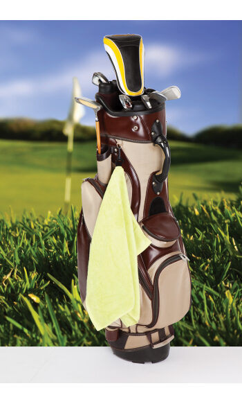 Bamboo Golf Towel with plastic hook